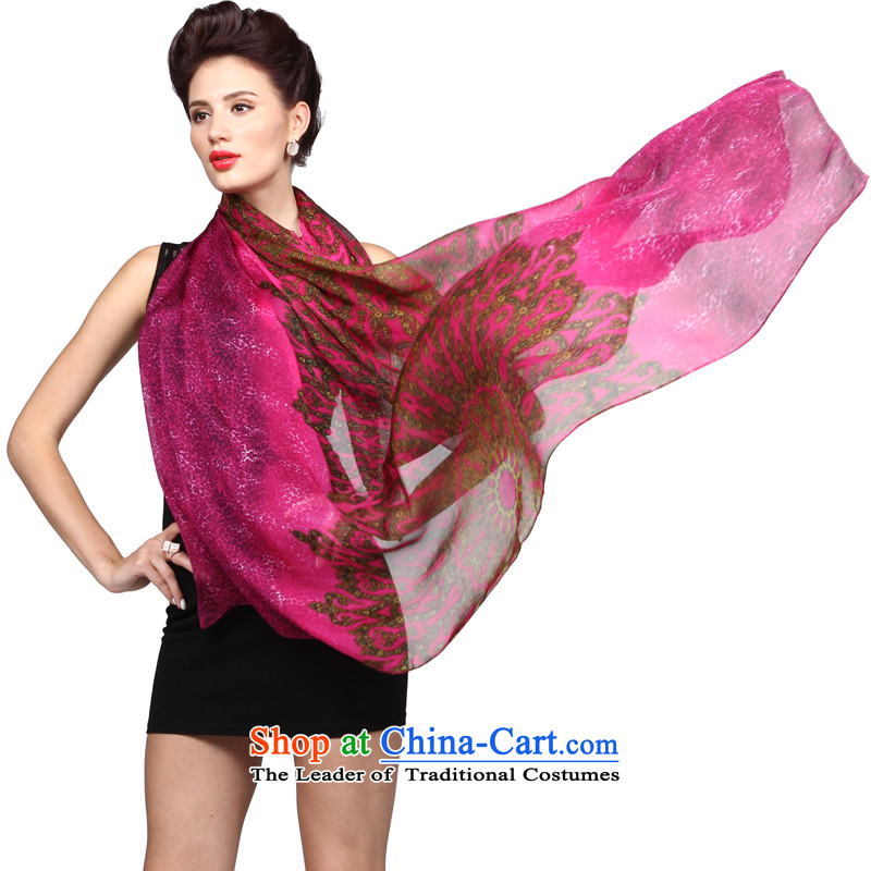 Shanghai Story with color series silk herbs extract silk scarf ultra-classy towel 135cm following violet