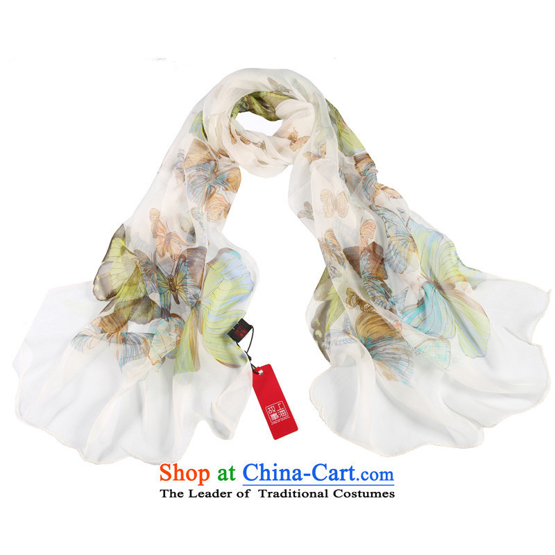 Shanghai Story Zephyr dancing herbs extract silk scarves Fancy Scarf gittoes yarn masks in the Butterfly Dance White