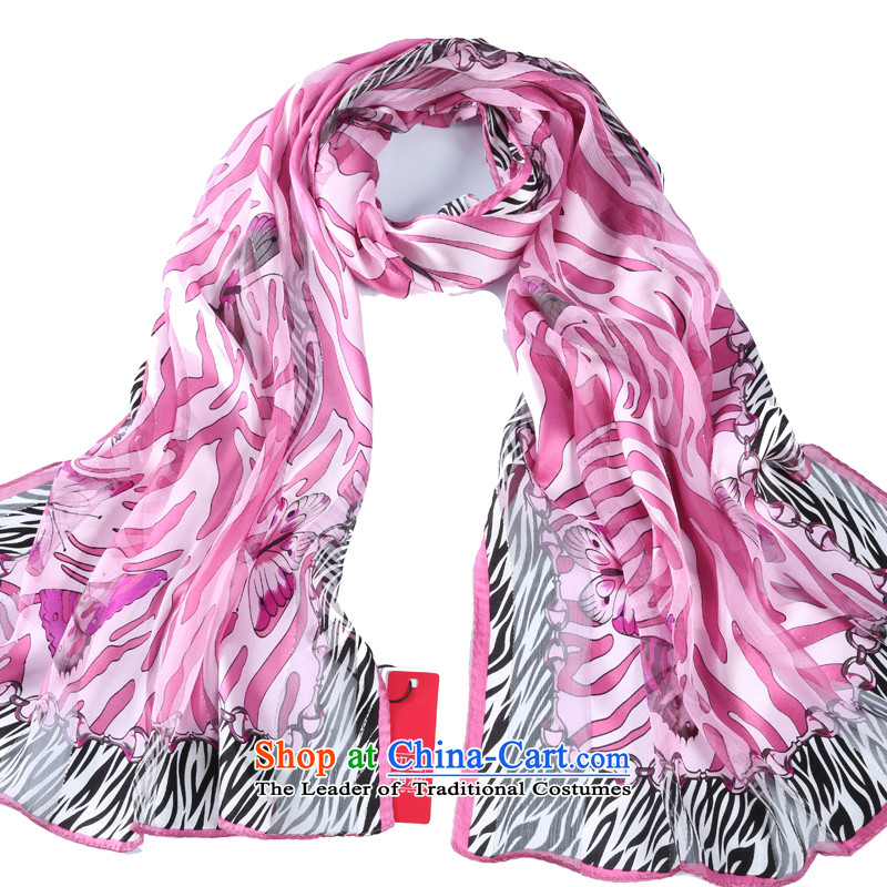 Shanghai Story 2014 New Striped satin rose herbs extract silk scarves female scarf sunscreen shawl Leopard Butterfly