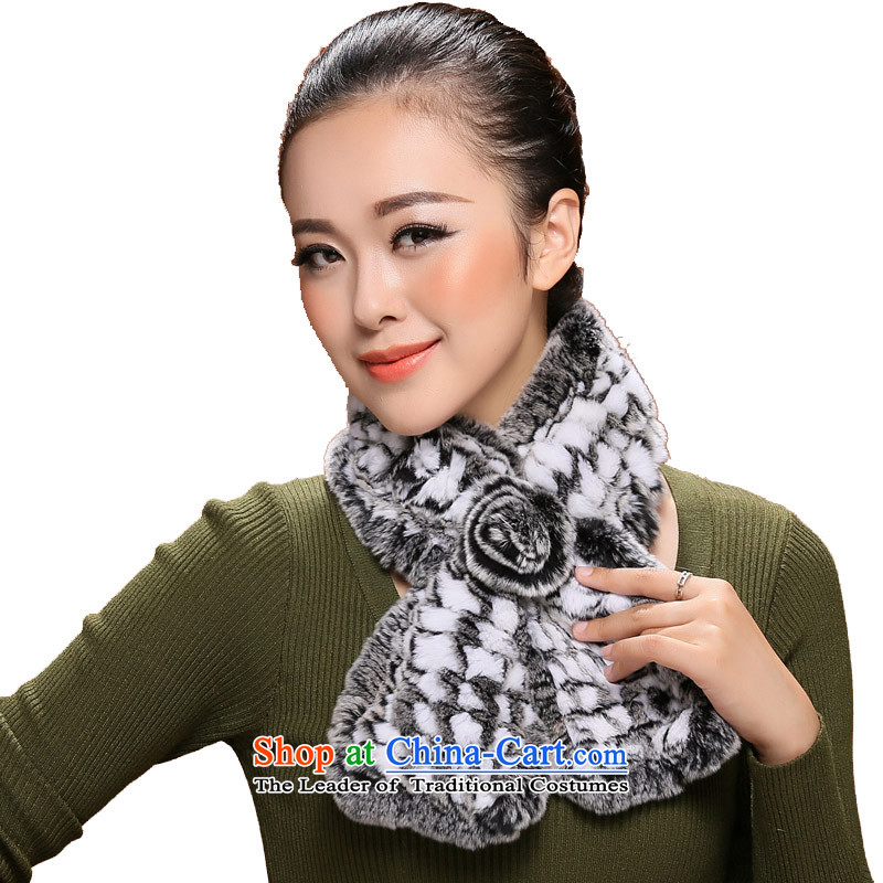 I know the process of fur rabbit hair braiding in older women autumn and winter a pineapple tattoo scarf 3101 pale