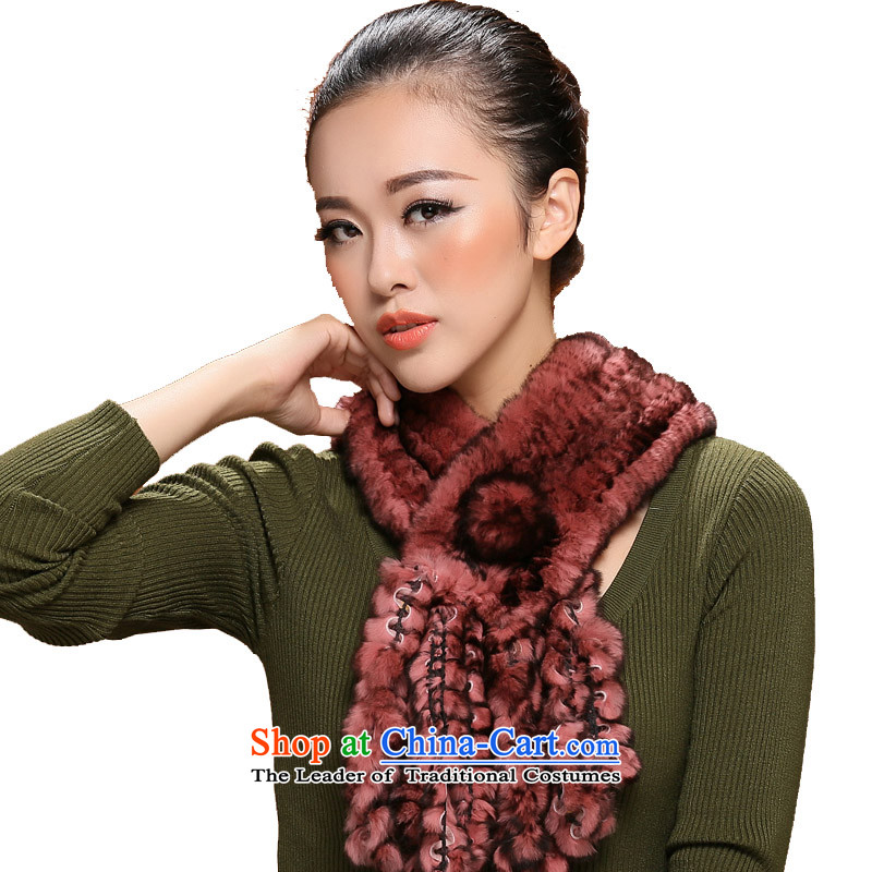 I know Ms. fur winter stylish, rabbit hair hand woven grape harvest edging fur a 3115 policy color