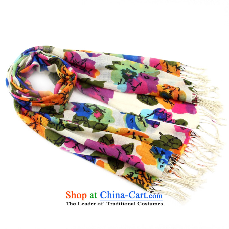 Shanghai Story Pure Wool scarf autumn and winter Women Korea Sleek and versatile wool warm shawl 185055 Blue orange, Shanghai Story STORY & shanghai) , , , shopping on the Internet