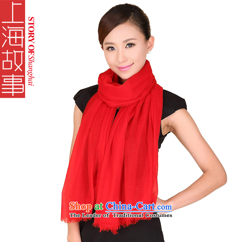 Shanghai Story rings polester velvet winter of Ms. Color 360 support ring lint-free Pure Wool warm scarf 176086 How To Retrieve Recordsets Red