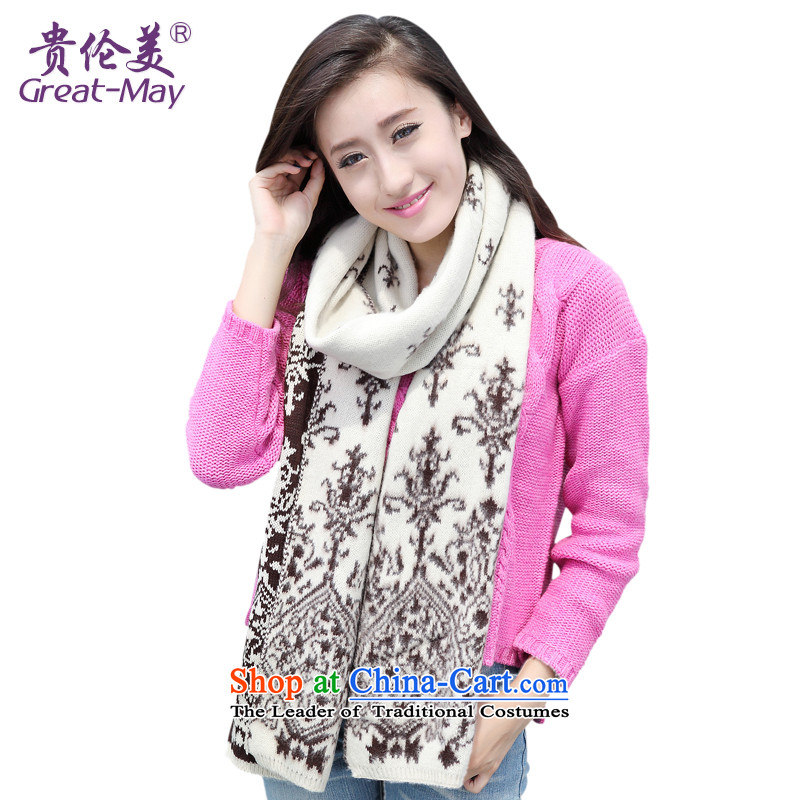 The Korean version of GREATMAY porcelain Jacquard Scarf Fall Winter Ms. knitted warm Knitting scarves WJ0038 03 m coffee170CM-230CM_