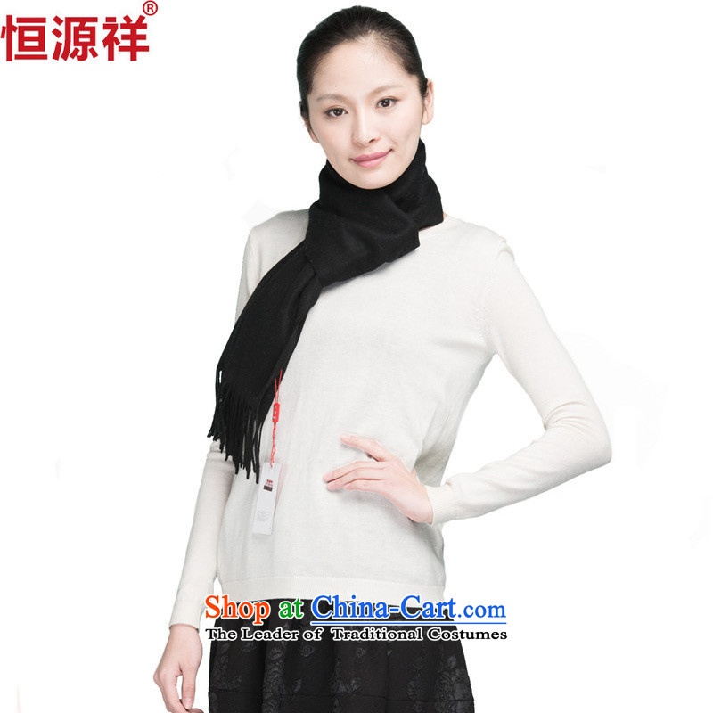 Ms. Cheung Hengyuan lamb polester velvet long Korean latticed solid color thick black two shawls