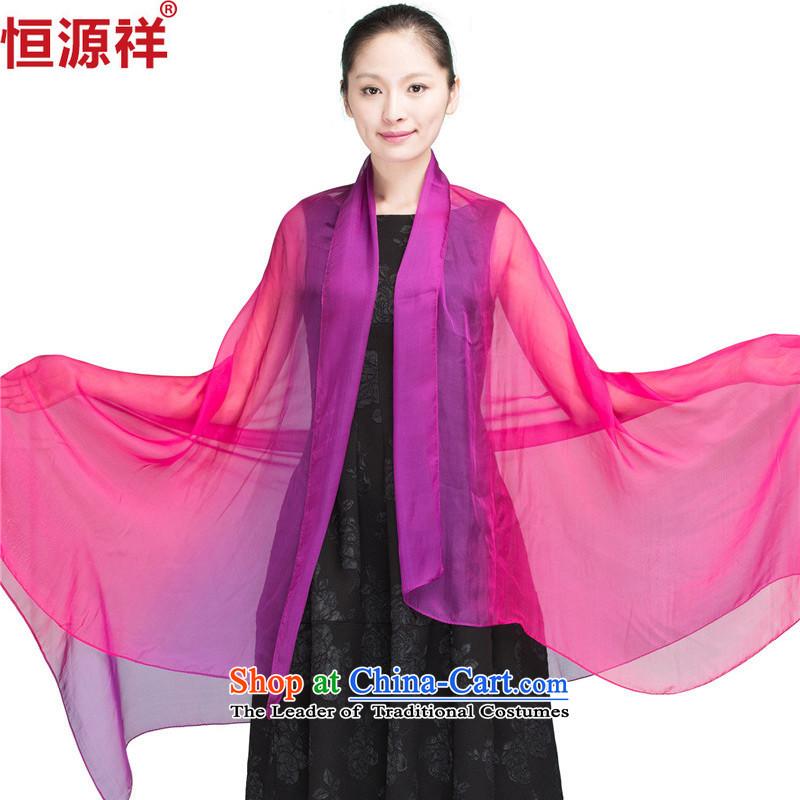 Ms. Cheung Hengyuan summer sauna silk scarves gradient large silk scarfs long slim female sunscreen1341-5# shawl