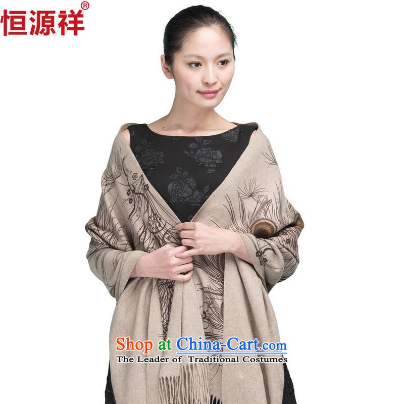 Hengyuan Eric Li dongqiu new women's Peacock Ms. shading pashmina warm thick large shawls-tail Purple