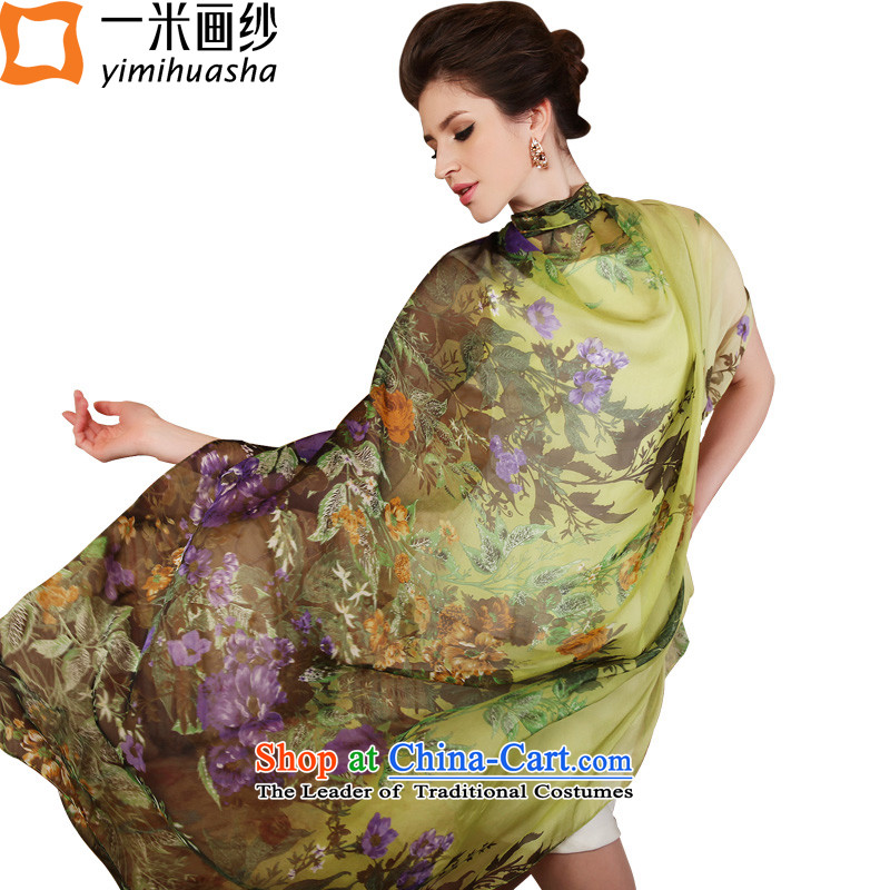 One meter of spring new animation sauna silk scarves, silk scarfs roses green