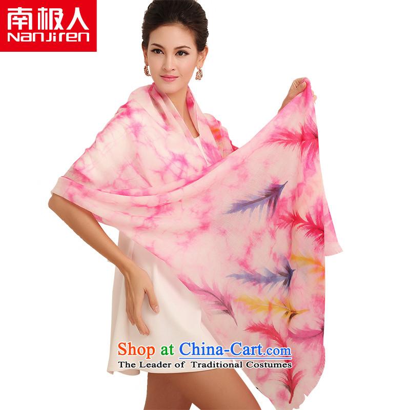 Antarctic nanjiren _Ms._ hand-painted pashmina shawl autumn and winter long a light pink Yu
