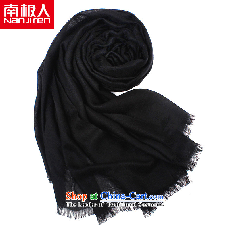 The Antarctic (nanjiren) Ms. scarves autumn and winter relief shading pashmina shawl diamonds a two with black