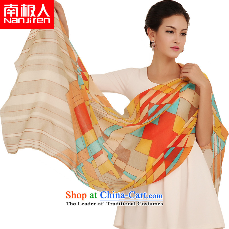 The Antarctic _nanjiren_ Ms. wooler scarf thick twill stamp shawl autumn and winter a square yellow