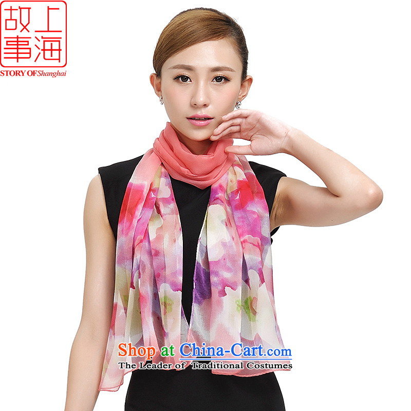 Shanghai Story herbs extract long sunscreen silk scarf beach towel spring and summer Ms. new silk scarfs sunscreen herbs extract beach shawl 177003 faintly pollen color