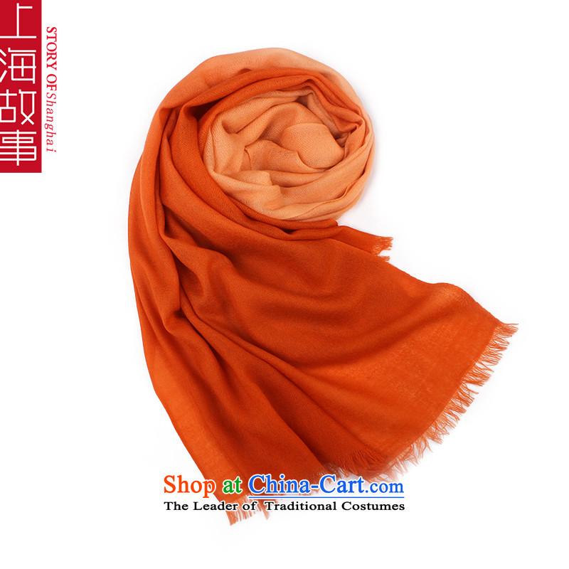 Shanghai Story Pure Wool scarves, autumn and winter shawl a light orange light orange
