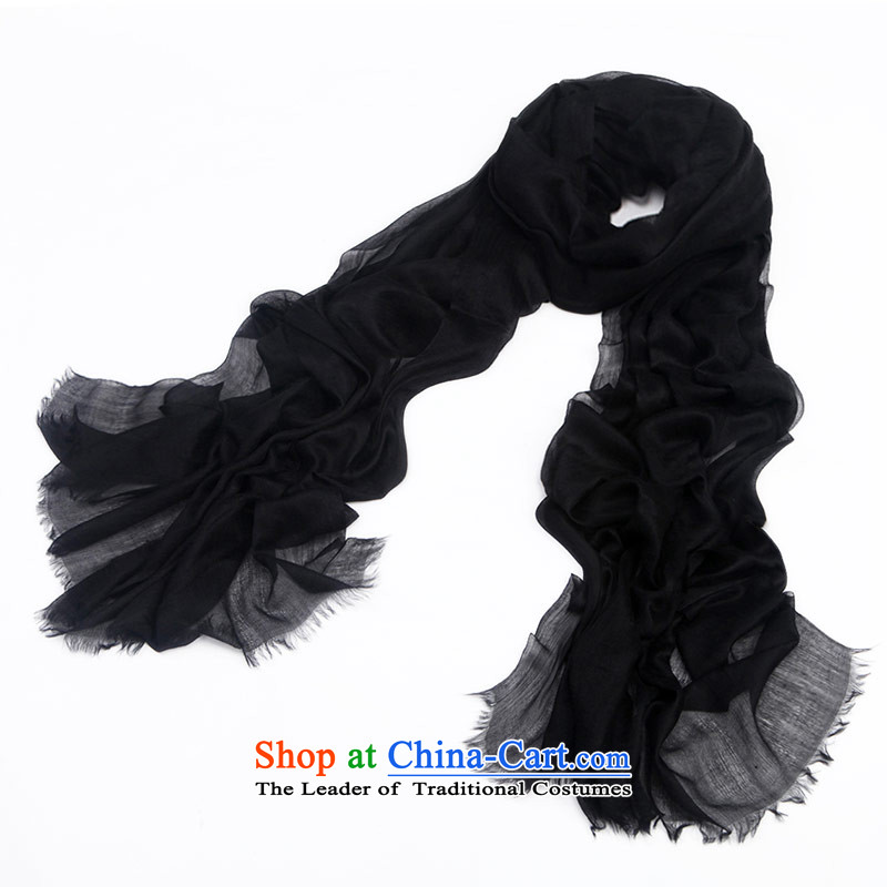 Arctic lint-free version 300 rings increase lint-free pure color slim pashmina shawl autumn and winter female black