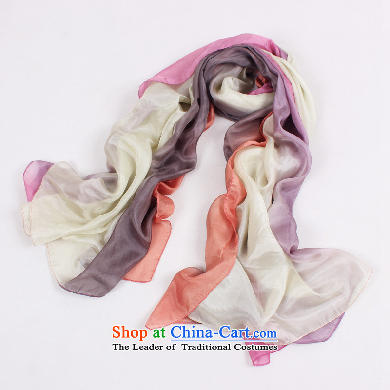 Shanghai Story Original plus ocean woven silk scarf gradient 100% gradient sizes herbs extract shawl gift scarf C.O.D. white Lover
