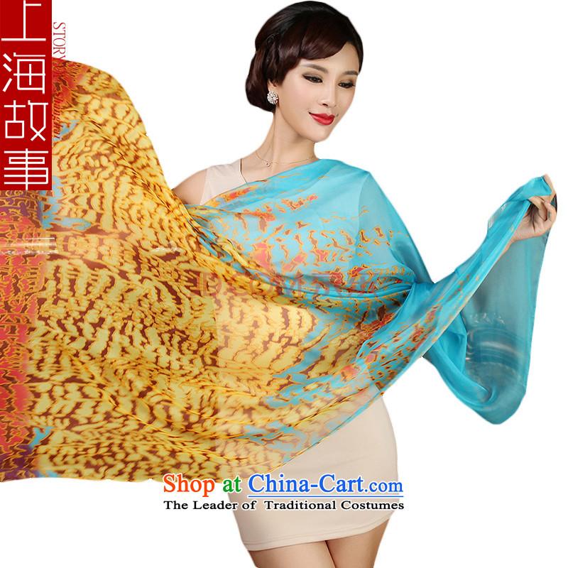 Shanghai Story silk scarf female spring and autumn emulating silk twill chiffon shawl, silk scarf#11