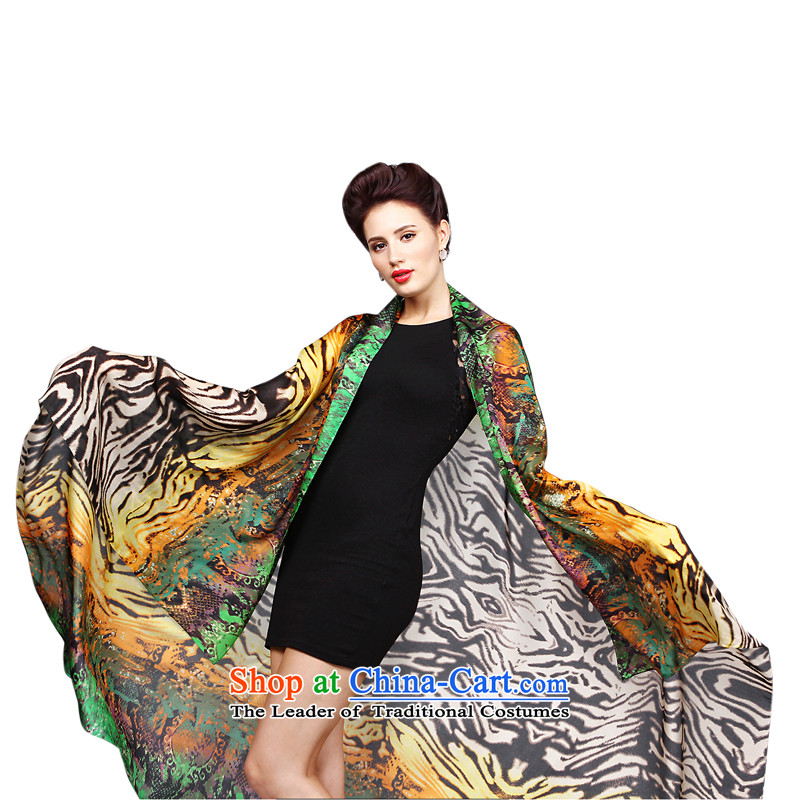 Shanghai Story herbs extract silk scarfs shawls two print oversized chiffon 140cm*200 extra-long 6#