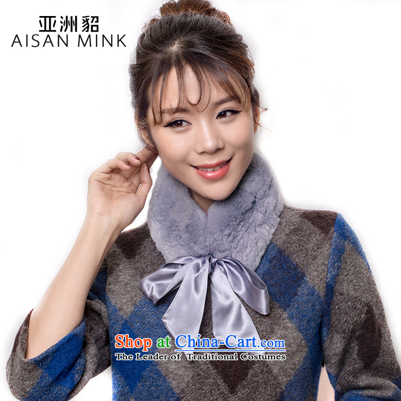 The Korean version of the new 2015 autumn and winter, and fur grass rectangular scarf female stylish warm winter rabbit hair a girl of ribbon leisure wild winter Gray