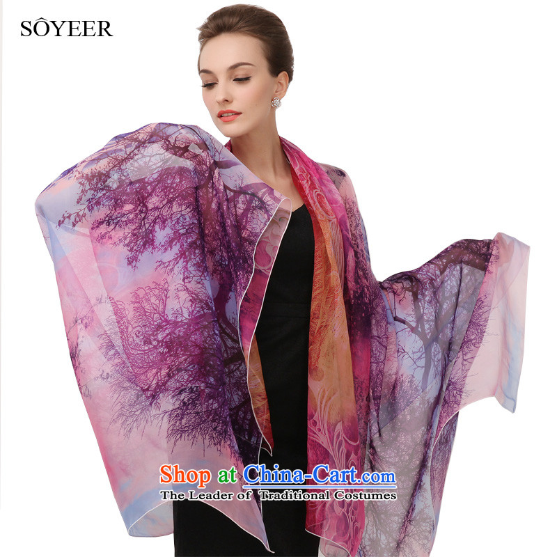New Spring and Autumn SOYEER silk scarfs long herbs extract spring and autumn silk scarf scarves silk shawls female recommended size 200*130cm