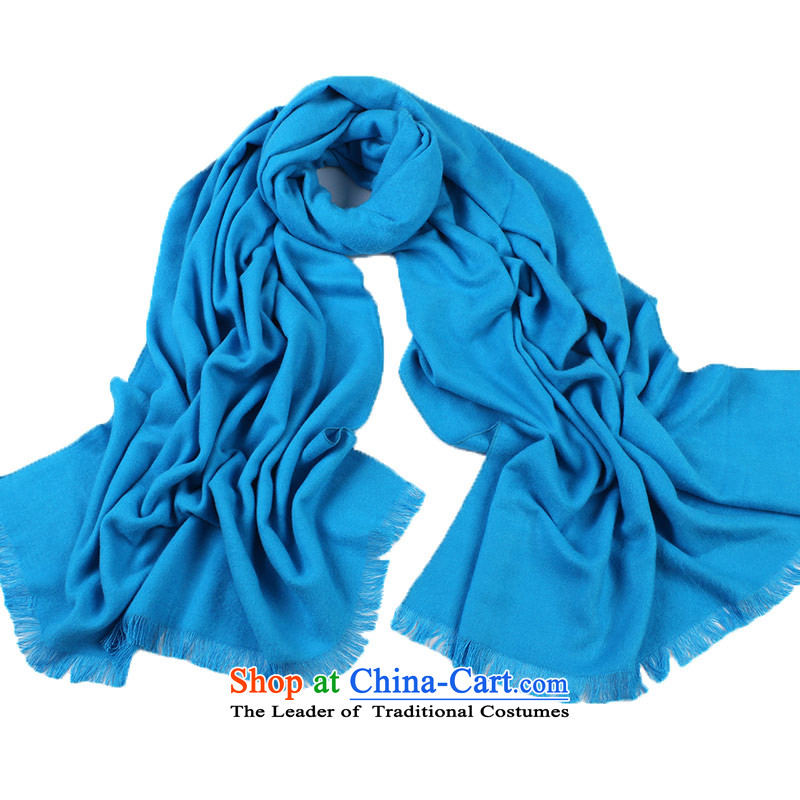 Arctic lint-free Korean autumn and winter wild solid color scarf female B48200612 light blue