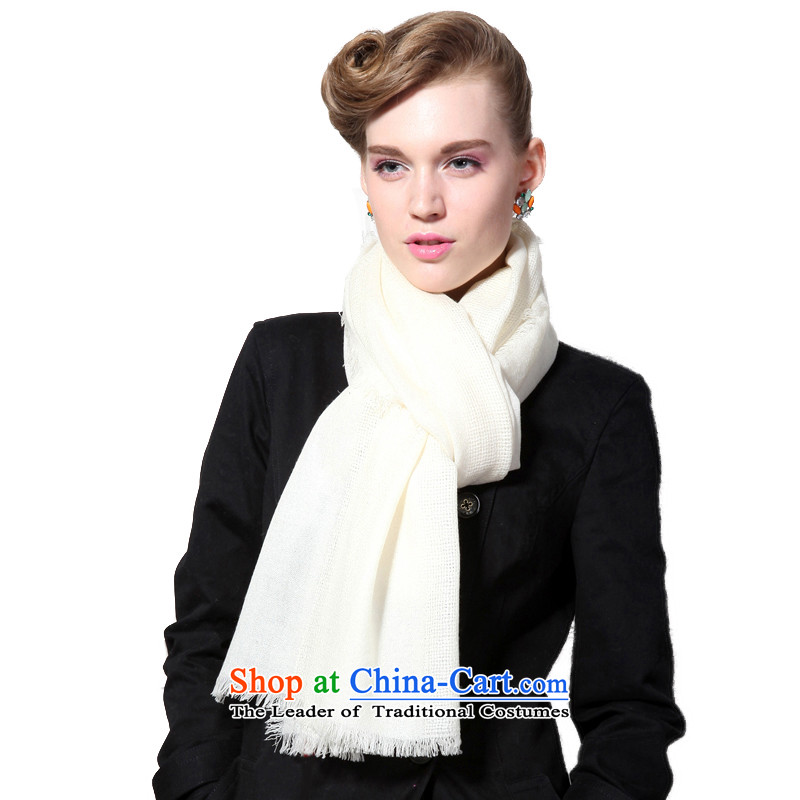 Hengyuan Cheung 2015 autumn and winter new Australian Merino Wool scarf women and four fine edge will be up scarf gift boxed White
