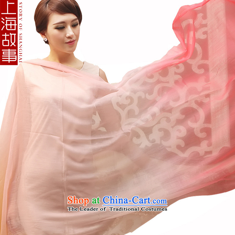 Shanghai Story Ms. silk scarf 300 Pure Cashmere scarf support gradient, Cashmere wool Autumn and Winter Magic gradient leather red gradient