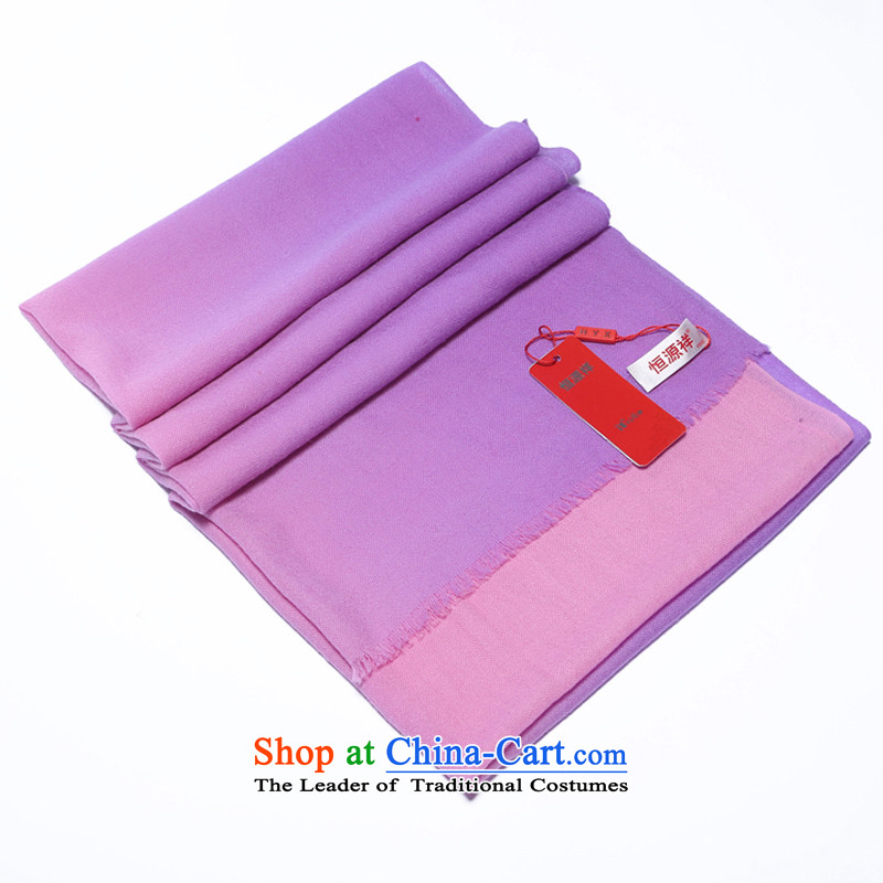 Hengyuan Cheung 2015 autumn and winter Ms. new wool long scarf loose ears gradient shawl gift box toner loose toner sui purple purple, hang Yuen Cheung-shopping on the Internet has been pressed.