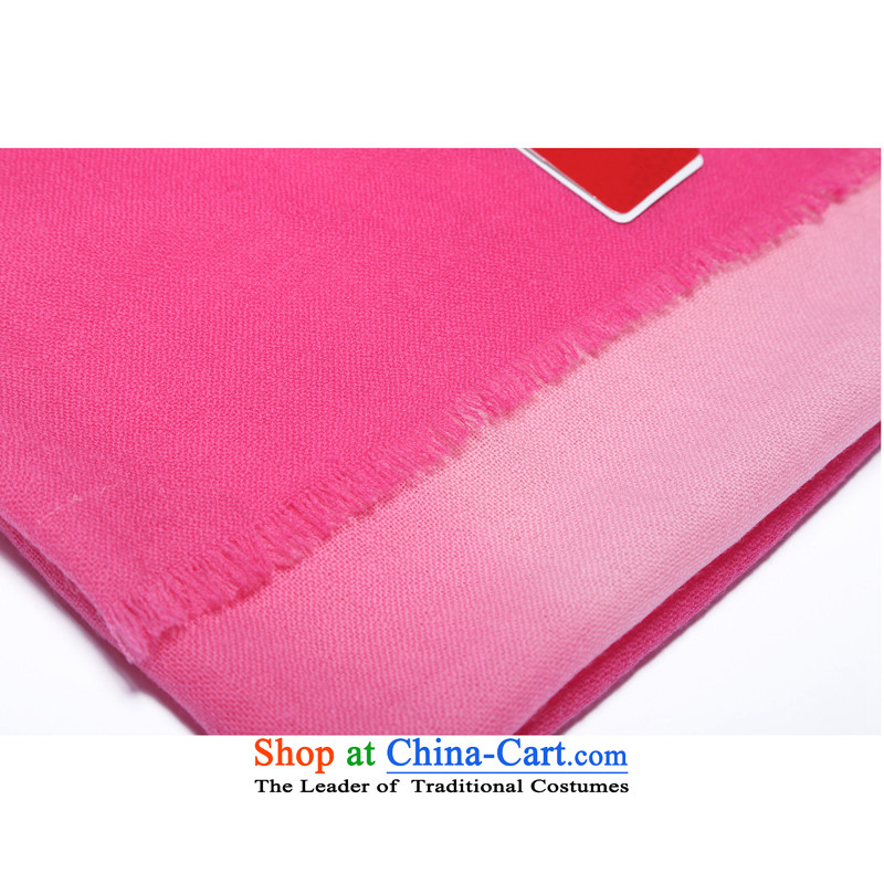 Hengyuan Cheung 2015 autumn and winter Ms. new wool long scarf loose ears gradient shawl gift box of red heat sink in the red, hang sui source-cheung shopping on the Internet has been pressed.