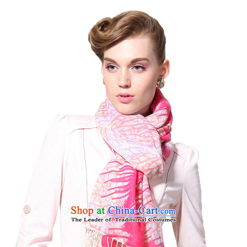 Hengyuan Cheung wool Ms. stamp long scarf gifts (Boxset) in red
