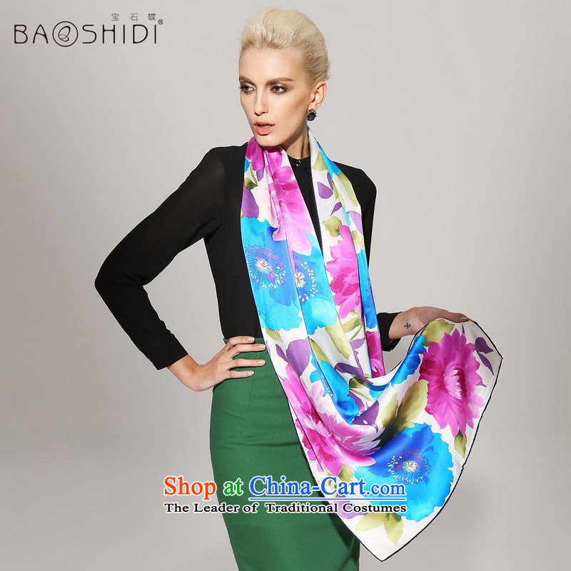 Gems butterfly silk long towel 2014 Autumn new herbs extract silk scarf/than Yun Jin 2 color