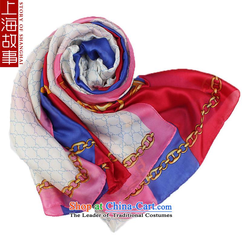 Shanghai Story silk scarf new sunscreen shawl, air conditioning stunning long wild scarf Yingko Yanwu pink edge