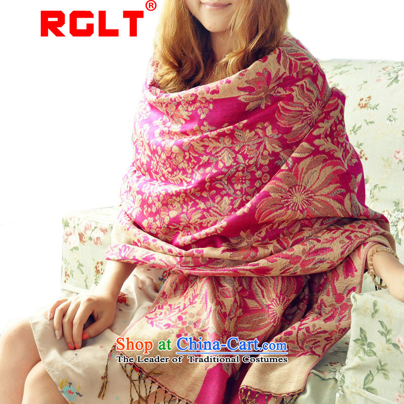 Rglt Rui,2015 new stamp warm ethnic Fancy Scarf Ms.4313Office Home mandatory long wild air-conditioning shawl Jacquard - the red
