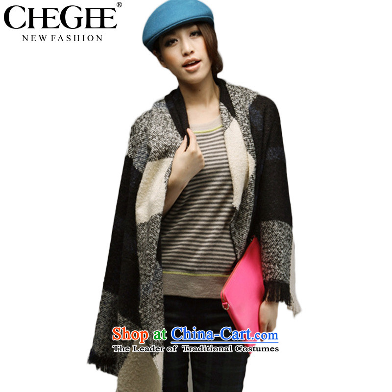 The autumn and winter taxi compartments CHEGEE scarf of England, grid wind thick warm shawl checkered