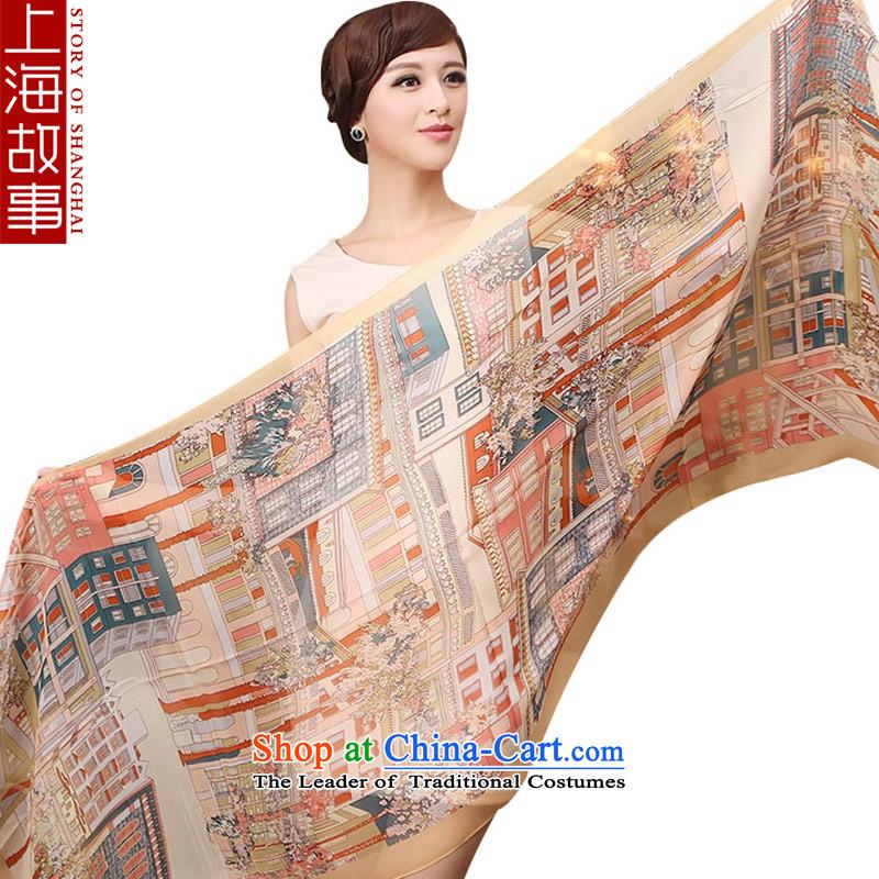 Shanghai Story silk scarves female sauna silk scarf long spring and autumn shawl dark green house