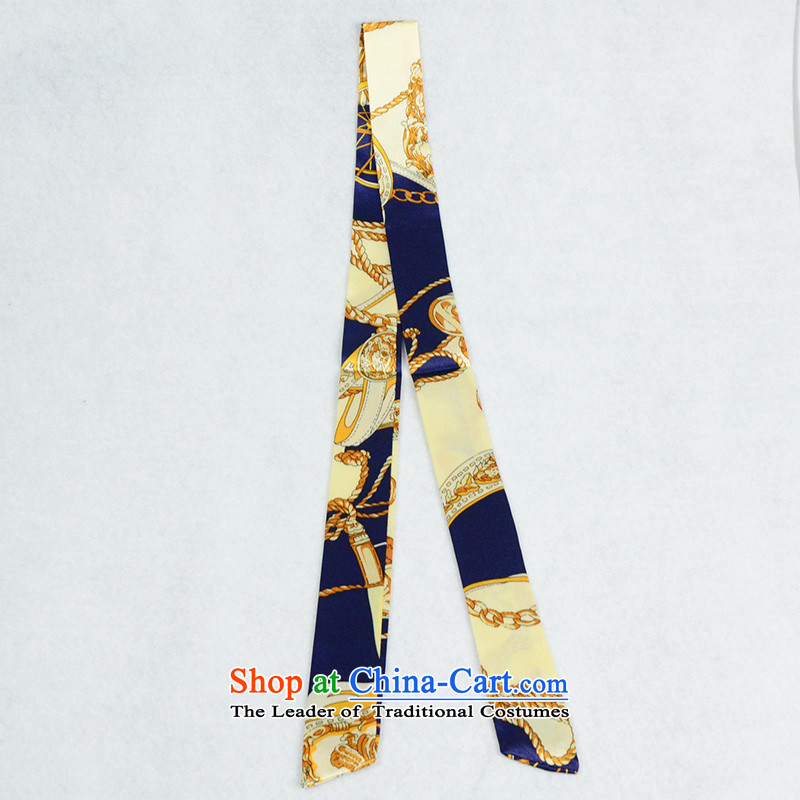 Heart hailanghua bind packages handle silk scarf of around small turban with decoration of the scarf-long聽F15 beige blue