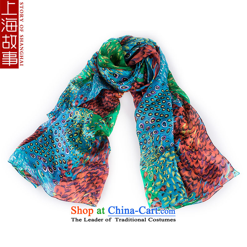 Shanghai Story silk scarves female scarf spring and autumn the new ultra large shawl Peacock