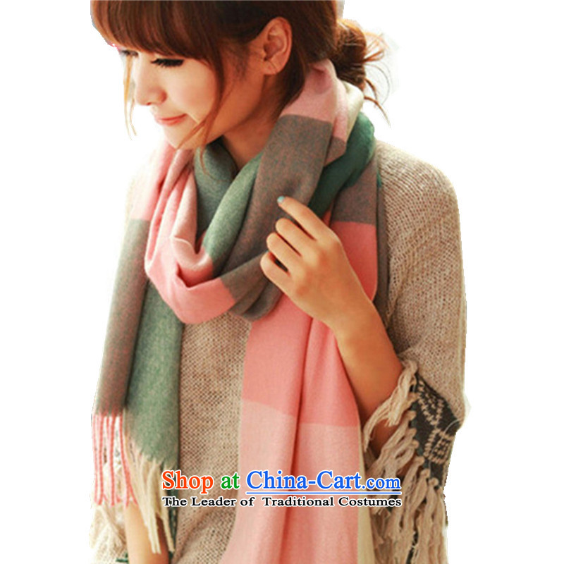 Guest-Hi Ms. scarves million autumn and winter_ Emulation cashmere shawls聽 WJ2 latticed Thick聽Green Tartan