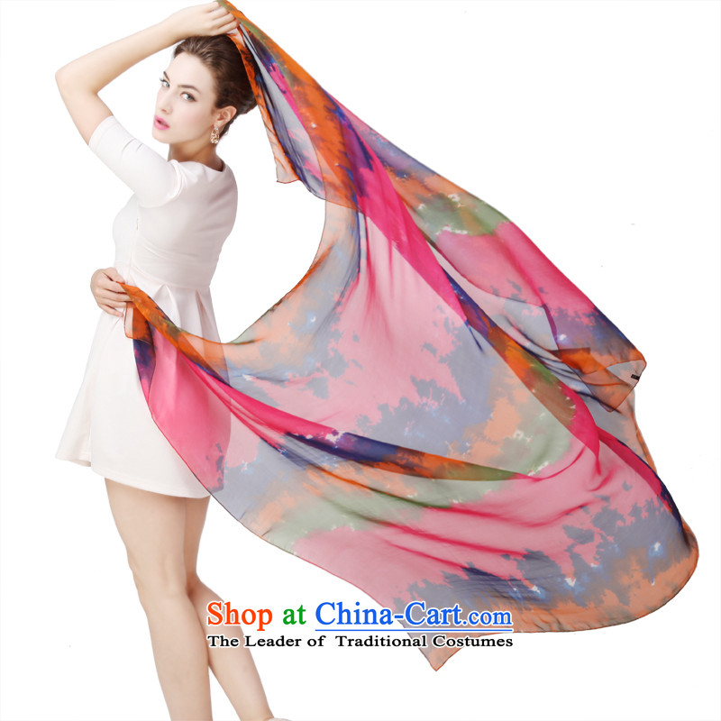 Shanghai Story genuine herbs extract silk scarves Fancy Scarf oversized long towel autumn and winter new fireworks clouds hung