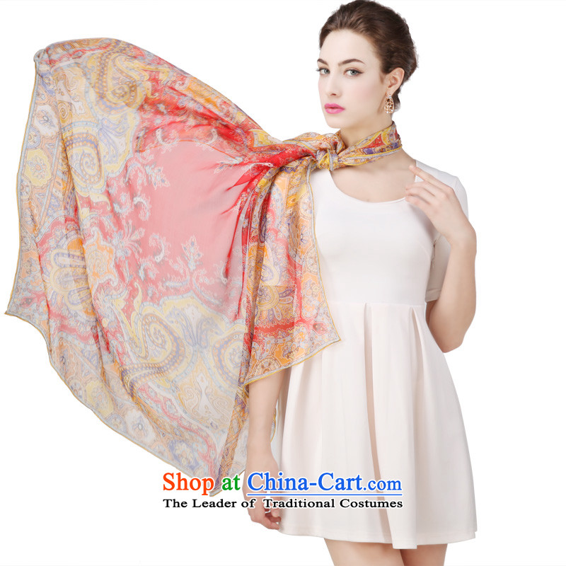 Shanghai Story silk spinning snow towel Fancy Scarf autumn and winter new and classy towel 135cm Thai style yellow