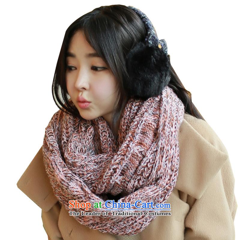Pink sheep warm winter Ms. scarves knitted knitwear Wai Shing chokeholds female Eiffel a figure聽174_33cm color
