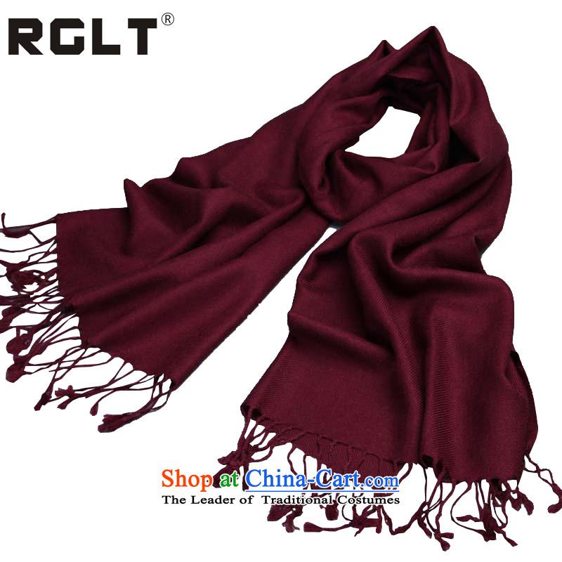 Rglt autumn and winter wool twill process wild pro-Skin Pure Color scarves, warm shawl dual-use the next rainy season - Burgundy