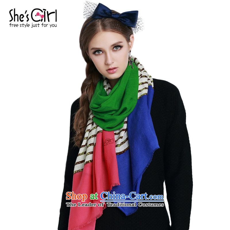 Mrs Ure sub-candy she's girl knocked color streaks stitching long Fancy Scarf spring and autumn) GSP96192824313D0 are code