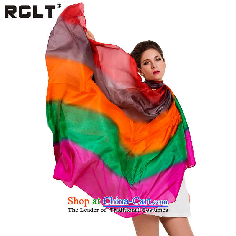 Ms. RGLT gift box wild herbs extract silk scarves ocean woven hand-painted silk scarf gradient silk scarf air-conditioning with two shawls otoyuki if the red gradient -