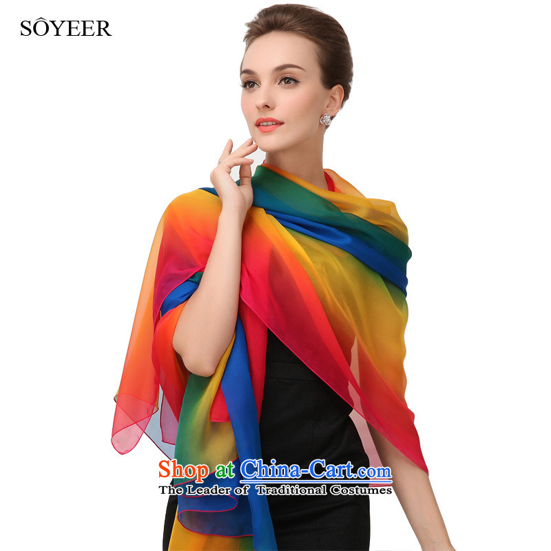Trompet spring and autumn 2015 SOYEER silk scarf upscale silk scarves President Dos Santos silk scarf of autumn and winter maximum recommended size 200_130cm shawl