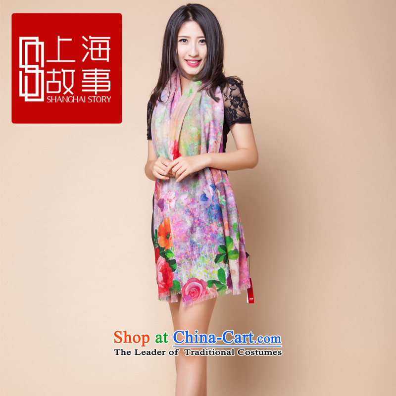 Shanghai Story autumn and winter new product line, Ms. woolen shawl scarf as flowers and jade like flowers jade - Heather is code