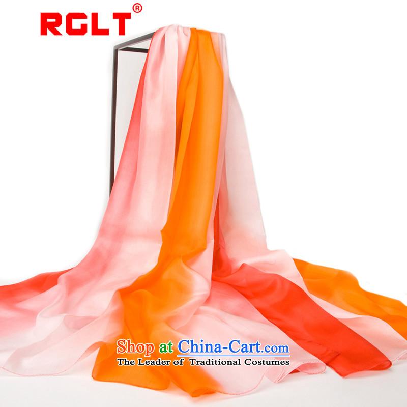 Rglt Rui,2015 New Pure Herbs extract silk scarves, maximum gradient silk shawlssj5844313Quintet Songs - red cravat gradient