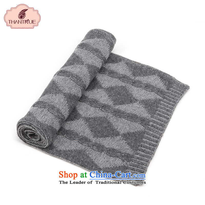 Enjoy a Korean version of true thantrue couples scarf autumn and winter long knitting, knitting, Ms. a warm W168 outdoor Light Gray