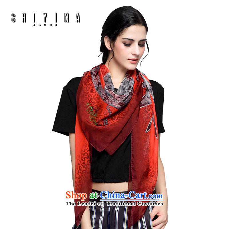 Ms Ina silk scarves female sauna silk scarves long winter stylish and classy towel heavy winter shawl red