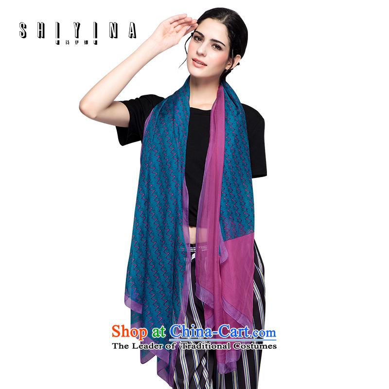 Ms Ina silk scarves, boutique herbs extract long shawl scarf stylish decoration at the autumn and winter spell Color Masks in intensifying Blue purple