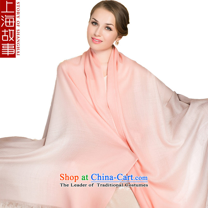 Shanghai Story autumn and winter, a new pure color gradient 80 Ms. Support Pure Wool Fancy Scarf Yellow gradient